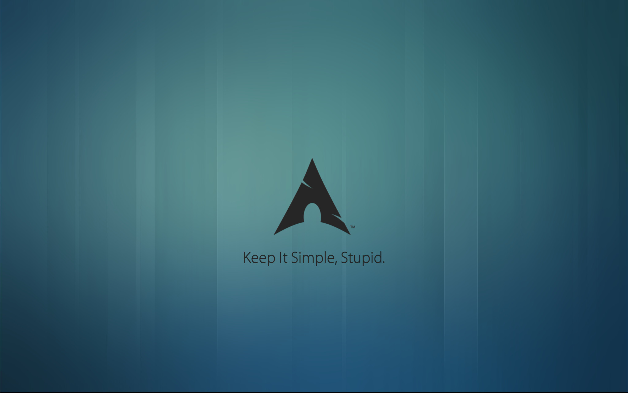 Arch Linux wallpaper. Keep it simple, stupid