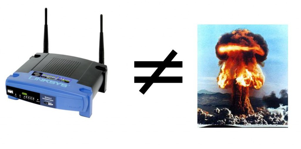 Los routers Wifi no son radioactivos
